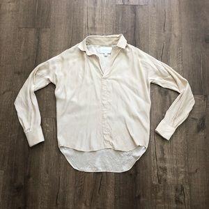 Brochu Walker Tan Silk Oversized Blouse XS